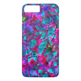 Coque iPhone 7 Plus verre souillé d'abrégé sur floral plus cas de