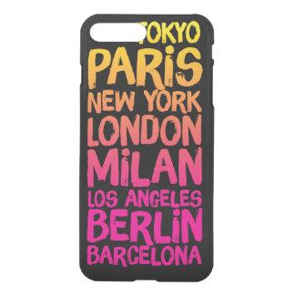 Coque iPhone 7 Plus Villes préférées au néon
