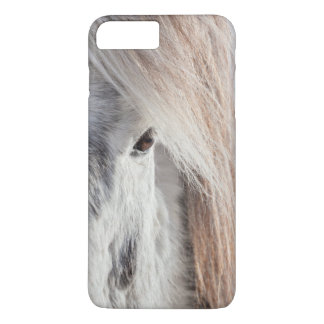 Coque iPhone 7 Plus Visage islandais blanc de cheval, Islande