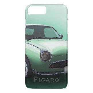 Coque iPhone 7 Plus Voiture de Nissan Figaro de vert vert
