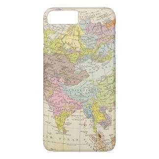 Coque iPhone 7 Plus Volkerkarte von Asien - carte de l'Asie