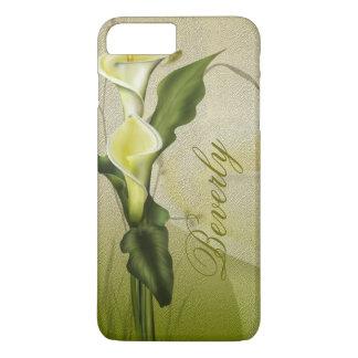 Coque iPhone 7 Plus Zantedeschia blanc
