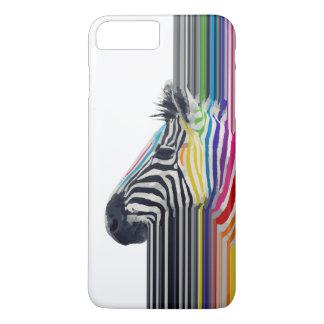 Coque iPhone 7 Plus zèbre vibrant coloré à la mode impressionnant de