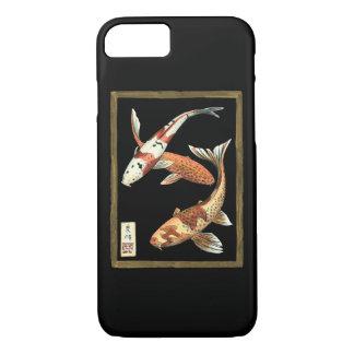 Coque iPhone 7 Poisson rouge de Koi de deux Japonais sur