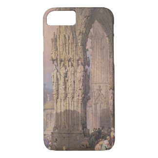 Coque iPhone 7 Porche de cathédrale de Ratisbonne