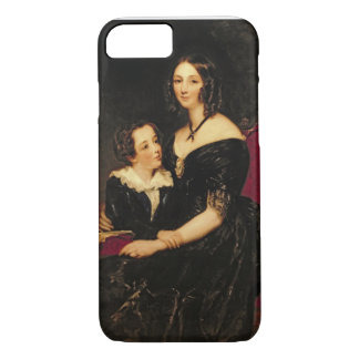 Coque iPhone 7 Portrait d'Eliza Boardman et son fils, Robert, 18