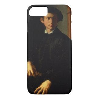 Coque iPhone 7 Portrait d'un jeune homme, c.1532-40 (huile sur le