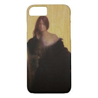 Coque iPhone 7 Portrait d'une femme (en pastel sur le papier)