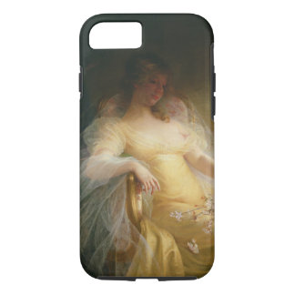 Coque iPhone 7 Portrait d'une femme (huile sur la toile)