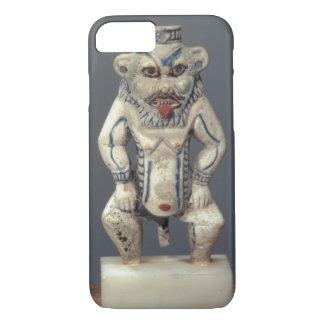 Coque iPhone 7 Pot de Kohl, dépeignant le dieu égyptien Bes de