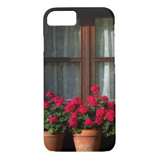 Coque iPhone 7 Pots de fleur de fenêtre dans le village