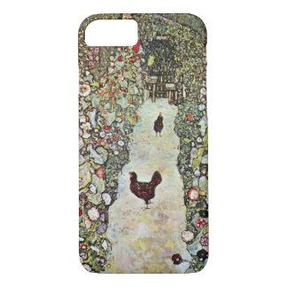 Coque iPhone 7 Poulets du chemin W de jardin, Gustav Klimt, art