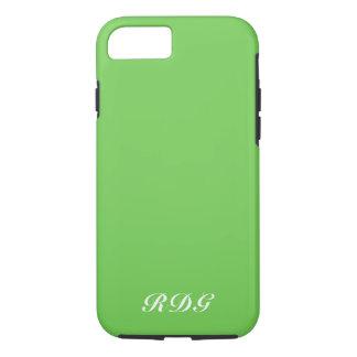 Coque iPhone 7 Professionnel moderne vert avec le monogramme