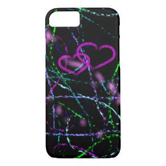 Coque iPhone 7 Purple Heart Artsy frais