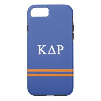 Coque iPhone 7 Rayure de sport du Rho | de delta de Kappa
