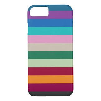 Coque iPhone 7 Rayures horizontales dans des couleurs d'automne