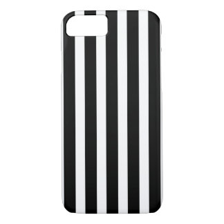 Coque iPhone 7 Rayures verticales blanches noires