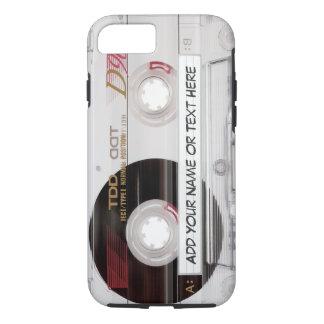 Coque iPhone 7 Regard vintage d'enregistreur à cassettes - motif