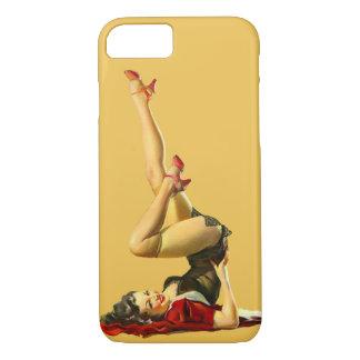 Coque iPhone 7 Rétro fille de pin-up