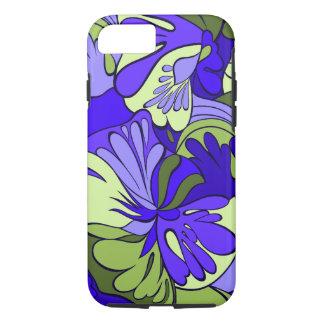 Coque iPhone 7 Rétro floral psychédélique de Lave-Lampe