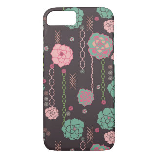 Coque iPhone 7 Rétro motif floral