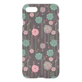 Coque iPhone 7 Rétro motif floral 4