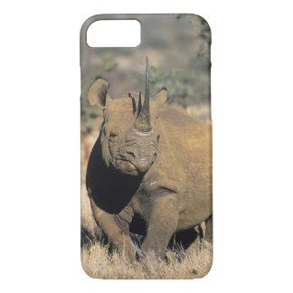 Coque iPhone 7 Rhinocerous noir, (bicornis de Diceros), du nord