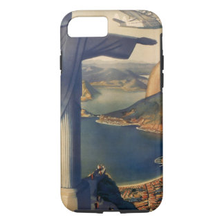 Coque iPhone 7 Rio de Janeiro vintage, le Christ la statue de