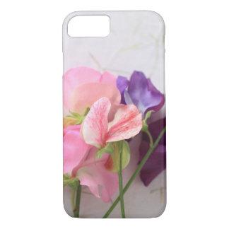 Coque iPhone 7 Rose et pois doux pourpres