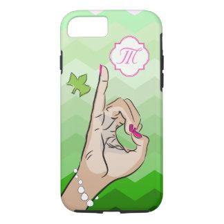Coque iPhone 7 Rose et vert de la vie de sororité