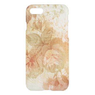 Coque iPhone 7 Roses de relief par or
