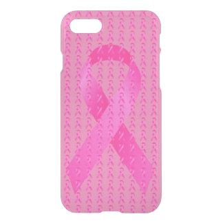 Coque iPhone 7 Ruban de rose de mois de conscience de cancer du