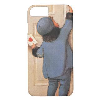 Coque iPhone 7 Saint-Valentin mignonne vintage, courrier de