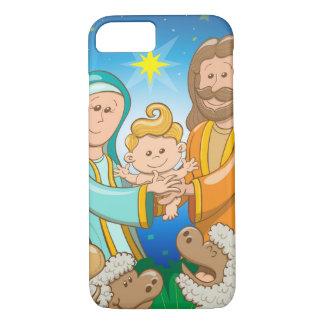 Coque iPhone 7 Scène douce de la nativité du bébé Jésus