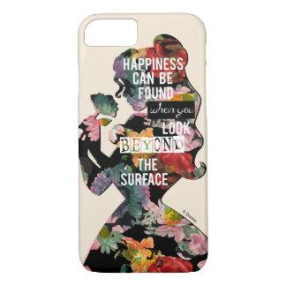 Coque iPhone 7 Silhouette florale de belle de la princesse  