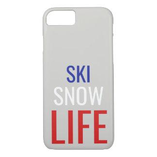 Coque iPhone 7 Ski, neige, iPhone de la vie 7/8 cas