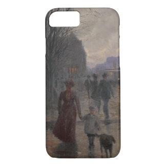 Coque iPhone 7 Soirée pluvieuse sur l'avenue de Hennepin, c.1902
