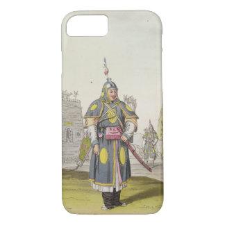 Coque iPhone 7 Soldat chinois dans la pleine robe de bataille,