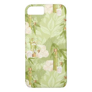 Coque iPhone 7 Spa vert, yoga, séance d'entraînement, bambou