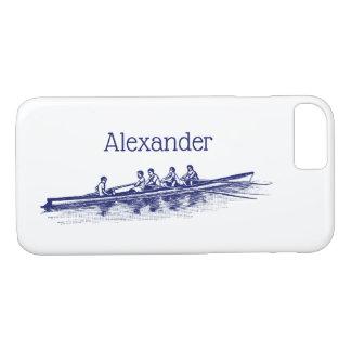 Coque iPhone 7 Sports aquatiques bleus d'équipe d'équipage de