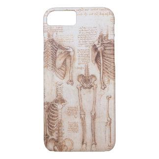 Coque iPhone 7 Squelettes humains d'anatomie par Leonardo da