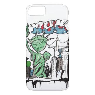 Coque iPhone 7 Statue de graffiti de la liberté