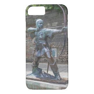 Coque iPhone 7 Statue de Robin Hood par la photo de château de