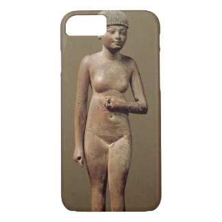 Coque iPhone 7 Statue d'une jeune fille d'employé (bois)