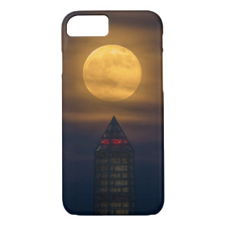Coque iPhone 7 Supermoon au-dessus de monument de Washington