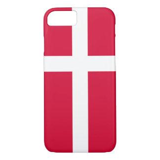 Coque iPhone 7 Symbole de drapeau de pays du Danemark longtemps