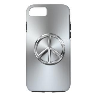 Coque iPhone 7 Symbole de paix graphique de gradient en acier