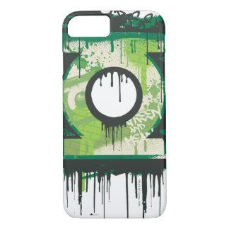 Coque iPhone 7 Symbole vert de graffiti de lanterne