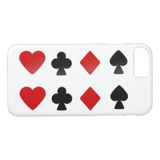 Coque iPhone 7 Symboles de paquet de cartes de costume