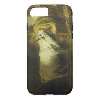 Coque iPhone 7 Taureau blanc dans le stable (huile sur la toile)